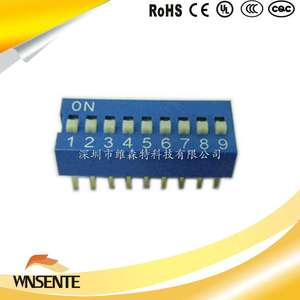 9-digit flat type Dip Switch