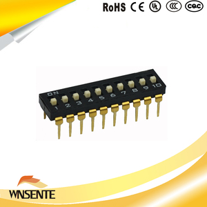 10-digit patch type Dip Switch