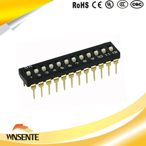 12-digit patch type Dip Switch