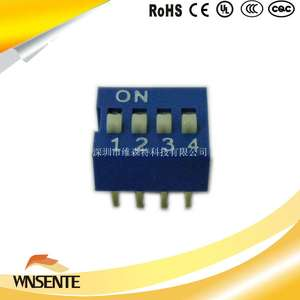 4-digit flat type Dip Switch