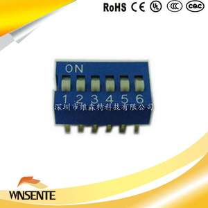 6-digit flat type Dip Switch