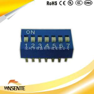 7-digit flat type Dip Switch