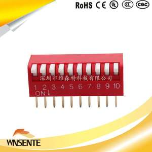 10-digit side dial type Dip Switch