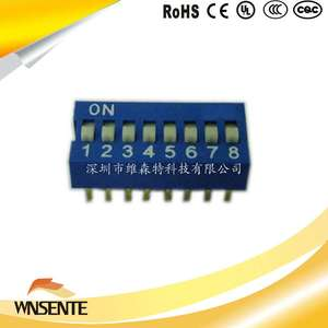 8-digit flat type Dip Switch